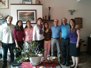 On the left is the pastor of Gruppo Cristiano Latino Americano, Aldo Cerasino with his daughter, Rebekah and his wife, Mariela. Next to me is Francesco Abortivi, the director of Progetto Archippo, the organization that sponsored the seminar. He was also my translator. Next to him is his daughter, Francesca and his wife, Alessia.