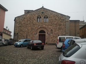 Ancient church in Fornovo, Italy