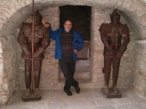 Alan at Bardi Castle, Italy