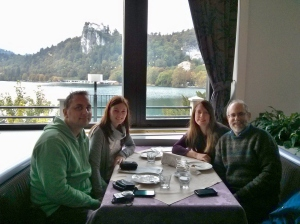 With Rok and Polona at Lake Bled