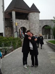 With Sergeja at Ljubljana Castle