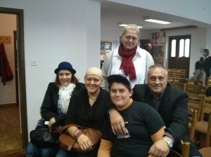 In back: Tanja. In front, left to right: Sara, Rebeka, David, Boris.