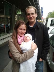 Andrej, Lydia, and baby Elijah