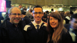 Alan & Robin with Daniel at his Master's Graduation