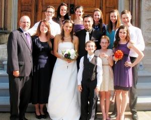 Family Photo at Josh & Megan's wedding